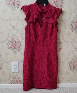 Adelyn Rae Delilah Lace Sheath mini dress